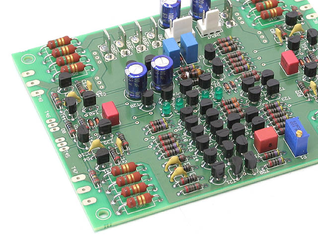 Populated amplifier PCB